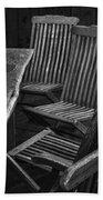 Table And Chairs Husavik Iceland 3767 Beach Towel