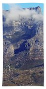 Table Mountain In The Clouds Beach Towel