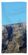 Table Mountain - Still Life With Blue Sky And One Cloud Beach Towel