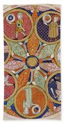 Table Of Planets Beach Towel