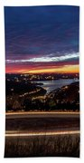 Table Rock Lake Night Shot Beach Towel