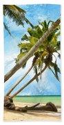 Tahitian Idyll Beach Towel