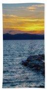 Tahoe Sunset Beach Towel