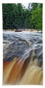 Tahquamenon Lower Falls Upper Peninsula Michigan Vertical 01 Beach Towel