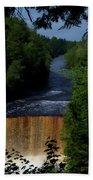 Tahquamenon Lower Falls Upper Peninsula Michigan Vertical 07 Beach Towel