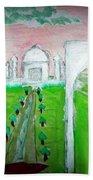 Taj Mahal Noon Beach Towel