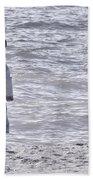 Black Bonnet Beach Towel