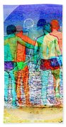 Taking The Plunge Together Beach Towel