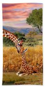 Tall Love From Above Beach Towel