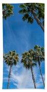 Tall Palms Meet The Sky Beach Sheet