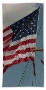 Tall Ship Flag I Beach Towel