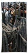 Tall Ship Lines V Beach Towel