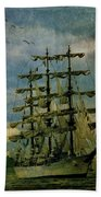 Tall Ship New York Harbor 1976 Beach Towel