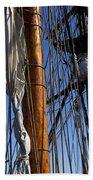 Tall Ship Rigging Lady Washington Beach Sheet