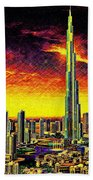 Tallest Building In The World Beach Towel