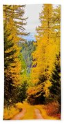 Tamarack Trail Beach Towel