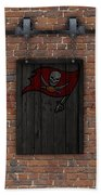 Tampa Bay Buccaneers Brick Wall Beach Towel