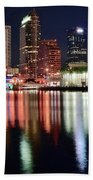 Tampa In Vivid Radiant Color Beach Towel