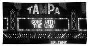 Tampa Theatre 1939 Beach Towel