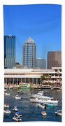 Tampa's Day Panoramic Beach Towel