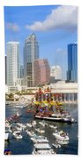 Tampa's Flag Ship Beach Towel