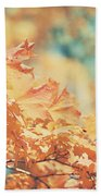 Tangerine Leaves And Turquoise Skies Beach Towel