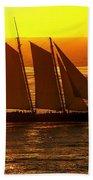 Tangerine Sails Beach Towel