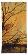 Tangerine Sky Beach Towel