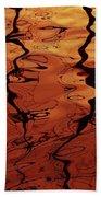 Tangerine Sunset Beach Towel