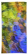 Tangerine Twist Mosaic Abstract Art Beach Towel
