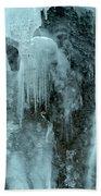 Tangle Falls Frozen Cascade Beach Towel