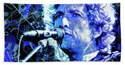 Tangled Up In Blue, Bob Dylan Beach Towel