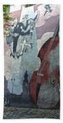 Tango And The Double Bass Beach Towel