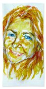 Tania Helft, Portrait Beach Towel