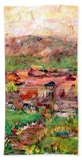 Taos By The River Beach Towel
