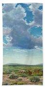 Taos Mustangs Beach Towel