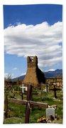 Taos Pueblo Cemetery Beach Sheet