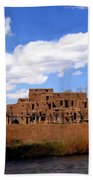 Taos Pueblo Early Spring Beach Towel