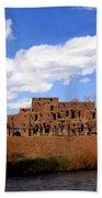 Taos Pueblo Early Spring Beach Towel