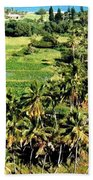 Taro Fields Beach Towel