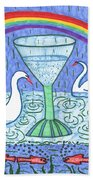 Tarot Of The Younger Self Ace Of Cups Beach Towel