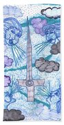 Tarot Of The Younger Self Ace Of Swords Beach Towel