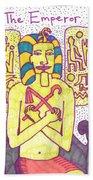 Tarot Of The Younger Self The Emperor Beach Towel