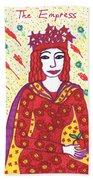 Tarot Of The Younger Self The Empress Beach Towel