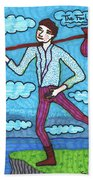 Tarot Of The Younger Self The Fool Beach Towel