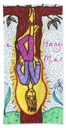 Tarot Of The Younger Self The Hanged Man Beach Towel