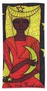 Tarot Of The Younger Self The High Priestess Beach Towel