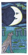 Tarot Of The Younger Self The Moon Beach Towel