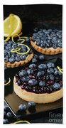 Tart With Blueberries Beach Towel