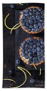 Tartlets With Blueberries Beach Towel